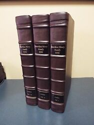 1793 - 3 Volumes Matthew Henry Large Folio Bible With Engravings - Full Leather