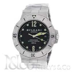 Bvlgari Diagono Scuba Automatic Stainless Steel 38mm Menand039s Watch