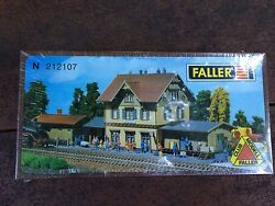 Faller 212107 N Scale Guglingen Railway Station With Freight Building Kit New