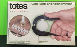 Totes Golf Club Golf Ball Monogrammer New In Box Gift $8.00
