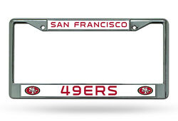 San Francisco 49ers Chrome Metal License Plate Frame