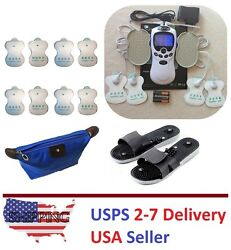 Tens Unit Tens Massager Digital Therapy Acupuncture 4 Pads Machine Full Body I