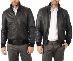 ★giacca Giubbotto Uomo In Di Pelle 100 Men Leather Jacket Veste Homme Cuir R79b