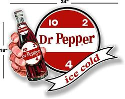 Dp-107 24 Dr Pepper 10 2 4 Ice Cold Bottle In Hand Cooler Pop Soda Decal