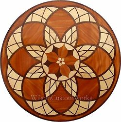 30 Wood Floor Inlay 246 Piece Stained Glass Flower Kit Diy Flooring Table Box