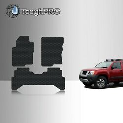 ToughPRO Floor Mats Black For Nissan Xterra All Weather Custom Fit 2005 2015 $79.95