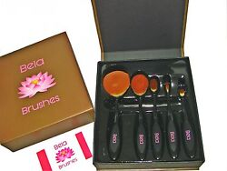 Professional Cosmetic Set 5 Piece Oval Makeup Brushes Soft Hairs amp; Flexible $8.00
