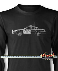 Ford Crown Vic Police Interceptor Chp Long Sleeves T-shirt - Multi. Col And Sizes