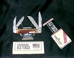 Schrade 44ot Workmate Knife 1990and039s Old Timer 3-5/16 Closed W/packagingpapers