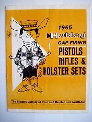 1965 Hubley Cap-firing Pistols And Holster Sets Catalog W Little Cowboy On Cover