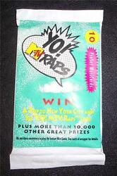 Yo Mtv Raps Trading Cards 1991 Pack Of 10 10 Cards Per Pack