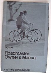 Vintage Amf Roadmaster Owner's Manual Bicycle Manual W/ Picture Of Bike