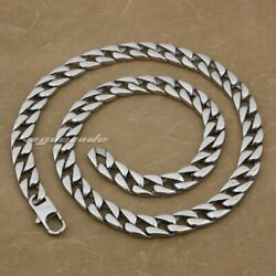 316l Stainless Steel Mens Diamond Curb Cuban Chain Necklace 5a002na 1836