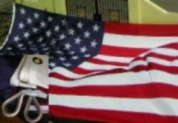 Usa American Double Sided 10x15 Embroidered 600d Nylon Flag 10and039x15and039