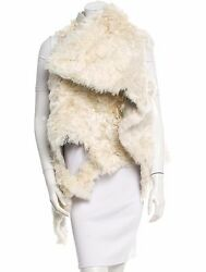 Spectacular New 3445 Sold Out Ann Demeulemeester Lama Shearling Vest / Gilet