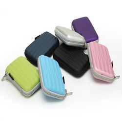 Carrying Case For 2.5 Hard Drive Disk Hdd Cable Pen Zipper Protective Pad Bag B