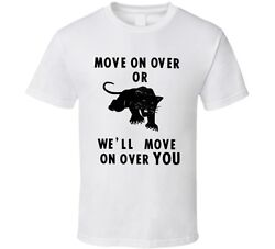 Vintage Political T-Shirt Black Panthers 1960s Move Over replica civil rights