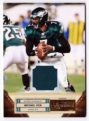 Michael Vick 2011 Timeless Treasures Panini 60 Green Jersey And039d 22/25