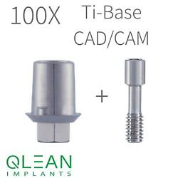 Lot Of 100 Ti-base Abutment Internal Hex Cad/cam Systems