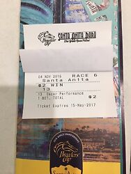 Extremely Rare-2016 Breeders Cup Winning Ticket From All Races-mint Condition