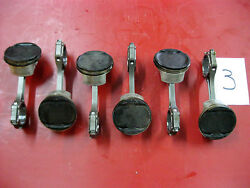 6 Yamaha 250 Hp Outboard 6cb-w1165-00-00 Piston Connecting Rods Vf250la Sho