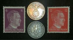 Rare Ww2 German Coins And Unused Stamps World War 2 Authentic Artifacts