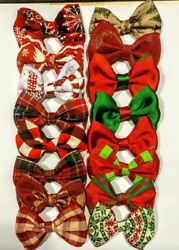 Lot Christmas mix3.5 Small BowTie for Dog Cat Pet grooming Handmade