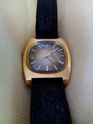 Collectible Watch Vintage Omega Gold 20 Micron Crocodile Band