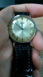 Collectible Old Vintage Longenes Automatic Mechanical Military Watch Croc Band