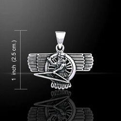 Ashur Assyrian God .925 Sterling Silver Pendant By Peter Stone