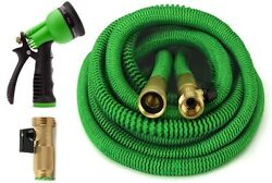 Growgreen Garden Hose, Expandable Hose Set With All Brass Connectors, 4 Sizes