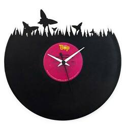 Vinyl Record Clock - Butterfly (Nature)