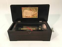 Antique Mermod Freres Swiss Cylinder Table Top Music Box 8 Tunes Jacot And Sons
