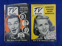 Vintage Tv Guide 1952 Paul Winchell And Jerry Mahoney Dorothy Collins - Lot Of 2