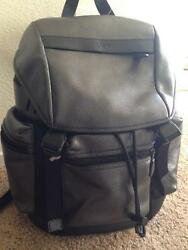 NEW COACH F546543 Men's Trek Pack Perforated Leather Backpack Travel Bag