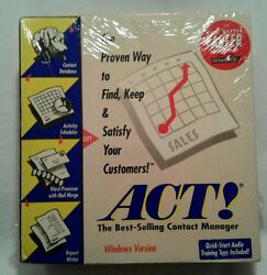 VTG Act! Contact Manager Database Report Writer 3.5 Disk Audio Training Tape NEW