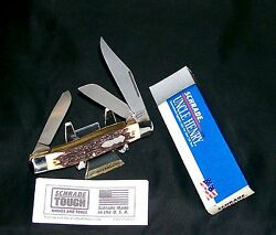 Schrade 885u Knife Usa King Ranch 3-7/8 Uncle Henry W/original Packagingpapers