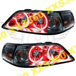 ORACLE Halo HEADLIGHTS Lincoln Town Car 05-08 Non HID RED LED Angel Demon Eyes