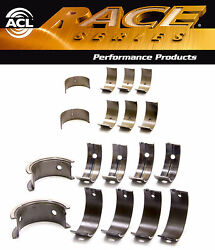 Acl Race Rod+main Bearings For Mitsubishi 4g63 4g63t 2.0 2.4 6-bolt Up-92 Std