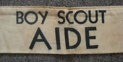 Rare 1920and039s - 1930and039s Boy Scout Bs Of A Aide Arm Band From Exposition Or Fair
