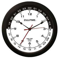 Trintec 14 Zulutime Dual Time Clock Zt14-3 Gift For Pilots And Flight Departments