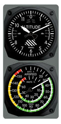 Trintec Classic Altimeter / Airspeed Clock And Thermometer Set 9060/9061
