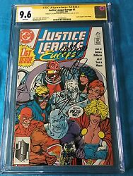 Justice League Europe 1 - Dc - Cgc Ss 9.6 - Signed By Sears Dematteis Giffen