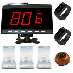 Singcall Wireless Calling System 1 Receiver,2 Watches,1 Pager,3 Table Bells Cafe