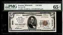 1929 5 The First Nb Of Wausau Wisconsin Note Ma-bn-173