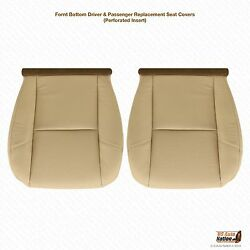 2007 2008 Cadillac Escalade Driver And Passenger Bottom Leather Seat Cover Tan