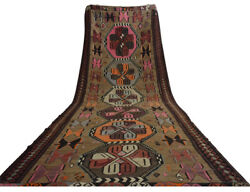 6andprime4andprime X 18andprime4andprime Turkish Rug Hand Woven Wool Kilim Large Runner Area Rug 76andprime X 220andprime
