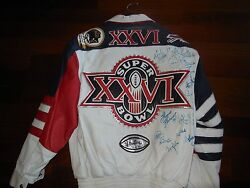 Jeff Hamiliton Super Bowl 26 Jacket First One Of 26 Signed By Both Teams
