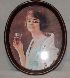 Vintage 1923 Advertisement Coca Cola Oval Tray The American Art Work Made 1973