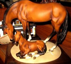 Dear Horse And Pony Sculpture By A. Belcari